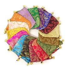 Honbay 16PCS Silk Brocade Drawstring Jewelry Pouches Coin Purses Gift Bags image 6