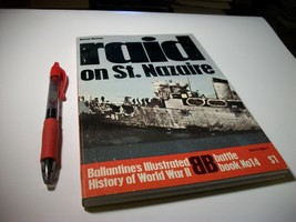 "Ballantine WWII Historical Book ""Raid on St. Nazaire"" No.14 Illustrated - $11.50"