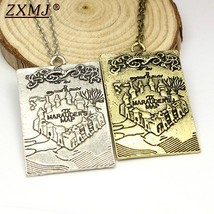 Zxmj Harried Marauder`s Map Potters Necklace Pendant For Women Man Gift Movie J - $9.75