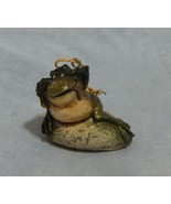 John Raya Toad Frog on Rock Ornament - $8.91