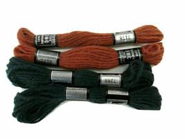 LAINE TAPISSERIE DMC France 100% Wool #7288 & 7178 Needlepoint Yarn Lot - $5.00