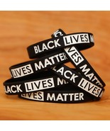 100 Black Lives Matter Wristbands - New Silicone Awareness Wrist Band Br... - £29.14 GBP