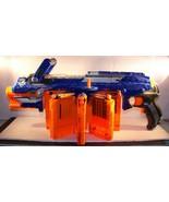Nerf N-Strike Elite HailFire Blaster Gun 8 Magazines Clips Hail Fire & 4... - $39.59