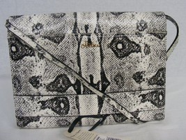 NWT Brahmin Atelier Chatham Clutch/Shoulder Bag in Black & White Embosed... - $299.00