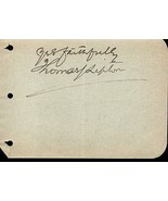 THOMAS LIPTON Autograph. Nicely signed album page. Founder Lipton Tea. - $39.59