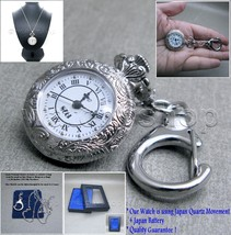 Silver 1928 Antique Style Women 2 Ways Pendant Watch Key Chain Necklace ... - $11.39