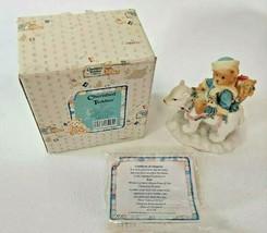 Cherished Teddies Eric Bear Tidings Of Joy Enesco Figurine 1994 Polar 62... - $14.80