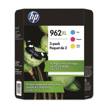 HP 962XL High Yield Colors 3 Pack Cyan Magenta Yellow Ink Cartridges 3JB36BN - $101.69