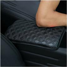 Black Universal Car SUV Armrest Pad Cover Auto Center Console PU Leather... - $7.32