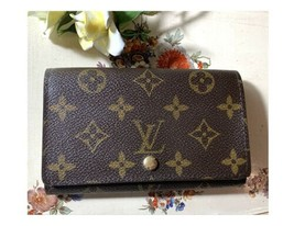 Louis Vuitton Wallet LV Monogram Browns Bifold Porte Monnaie Billets Tresor - $286.05