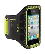 Belkin Ease-Fit Sport Armband for iPhone 4 and iPhone 4S (Black/Limelight) - $19.60