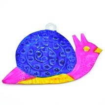 Hand Painted Folk Art Snail Punched Tin Ornament Made in Mexico image 2