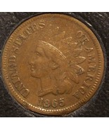 1865 Indian Head Cent VF Details #0015 - $11.20