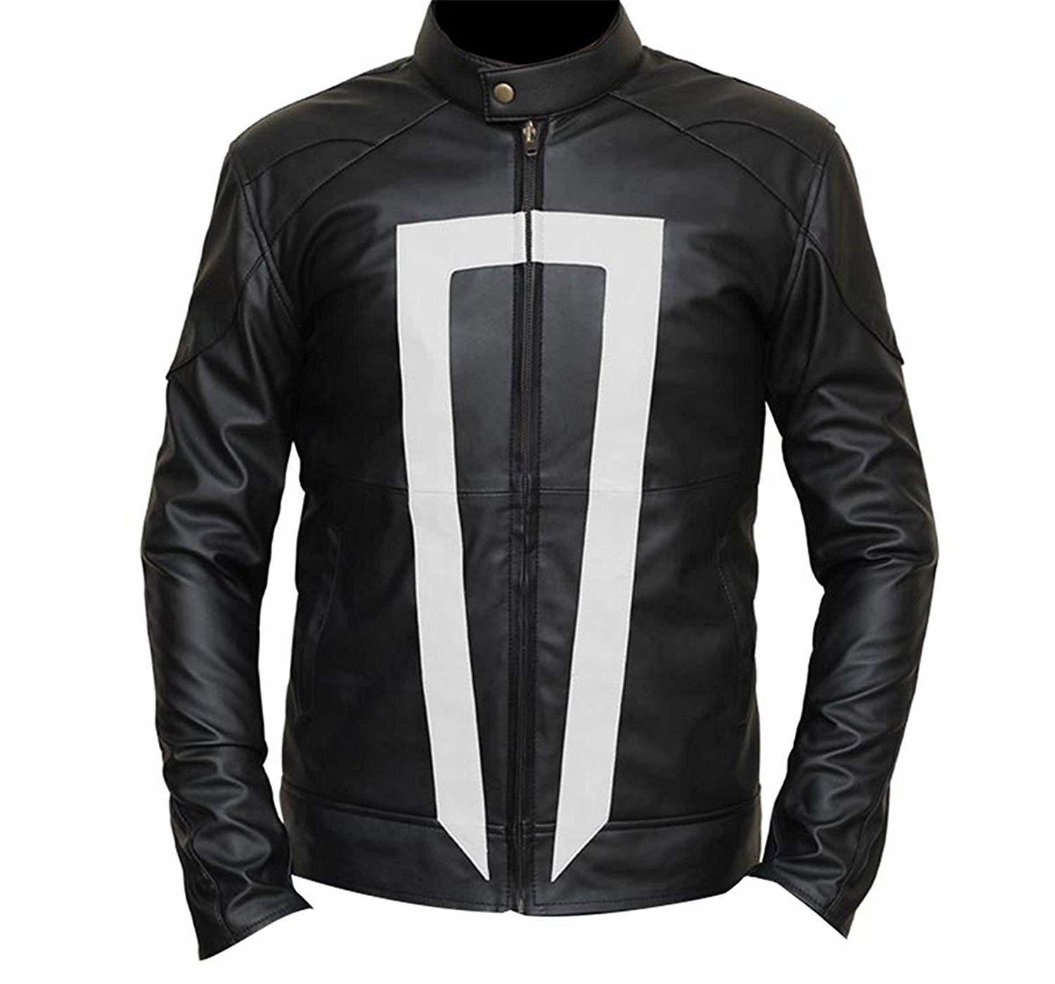 Agents of shield ghost rider  robbie reyes  black biker leather jacket