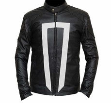 Agents Of Shield Ghost Rider (Robbie Reyes) Black Biker Leather Jacket image 1