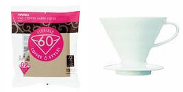 Hario V60 Series Set - Porcelain Dripper & 100 Paper Filters - $31.67