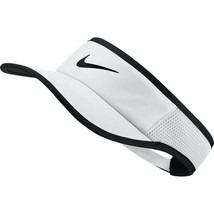 NEW! Nike Adult Aerobill Featherlight Tennis Visor-White/Black 899654-101 - $44.43