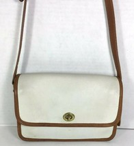 Coach Vintage Small Ivory Leather Flap Shoulder Bag -Distressed-Well Worn - $19.39