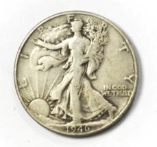 1946 DDR 50c Walking Half Dollar Philadelphia Double Die Reverse FS-801 - $49.49