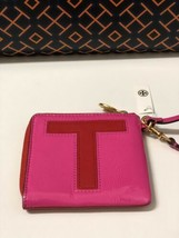 "Tory Burch Brilliant Red ""T"" Monongram Card Case Key Fob Free Shipping - $75.00"