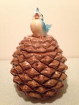 Metlox blue bird on pine cone cookie jar. - $99.99