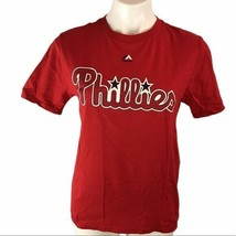 Majestic Phillies Youth Large Unisex Rhys Hoskins # 17 Tee T-Shirt MLB Baseball - $14.24