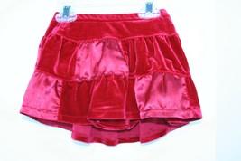 The Children's Place Red Velvet Satin Skirt Girls Size 4T - $8.90
