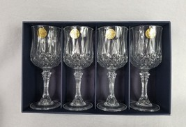 Cristal d'Arques Longchamp Stemmed Wine Glasses 24% lead crystal 5.75 oz New - $23.99