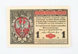 1917 Polonia Uno Marka Nota Au Alemán Ocupación Guerra Mundial 1i Pulir - $89.04