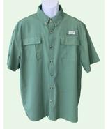 Sportsmans Warehouse Mens Short Sleeve Button Down Vented Fishing Shirt Green XL - $7.92