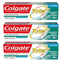 (3 Pack) New Colgate Total Advanced Fresh + Whitening Gel Toothpaste, 3.... - $20.49