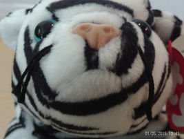 1st Edition TY Beanie Babies Rare Blizzard the Tiger, No Stamp, Deutschland, PVC - $7.99