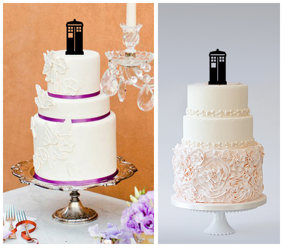 Wedding,Birthday Cake topper,Cupcake topper,silhouette doctor who : 11 pcs