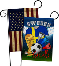 World Cup Sweden Soccer - Impressions Decorative USA Vintage - Applique ... - $30.97