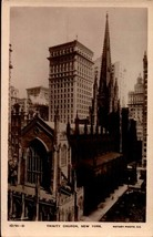 PHOTO POSTCARD- TRINITY CHURCH, NEW YORK CITY, NY BK23 - $3.19