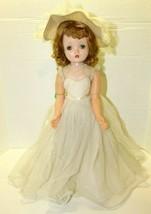 Vintage Madame Alexander Winnie Walker Bride Doll Tagged Red Hair Sleepy Eye  - $519.75