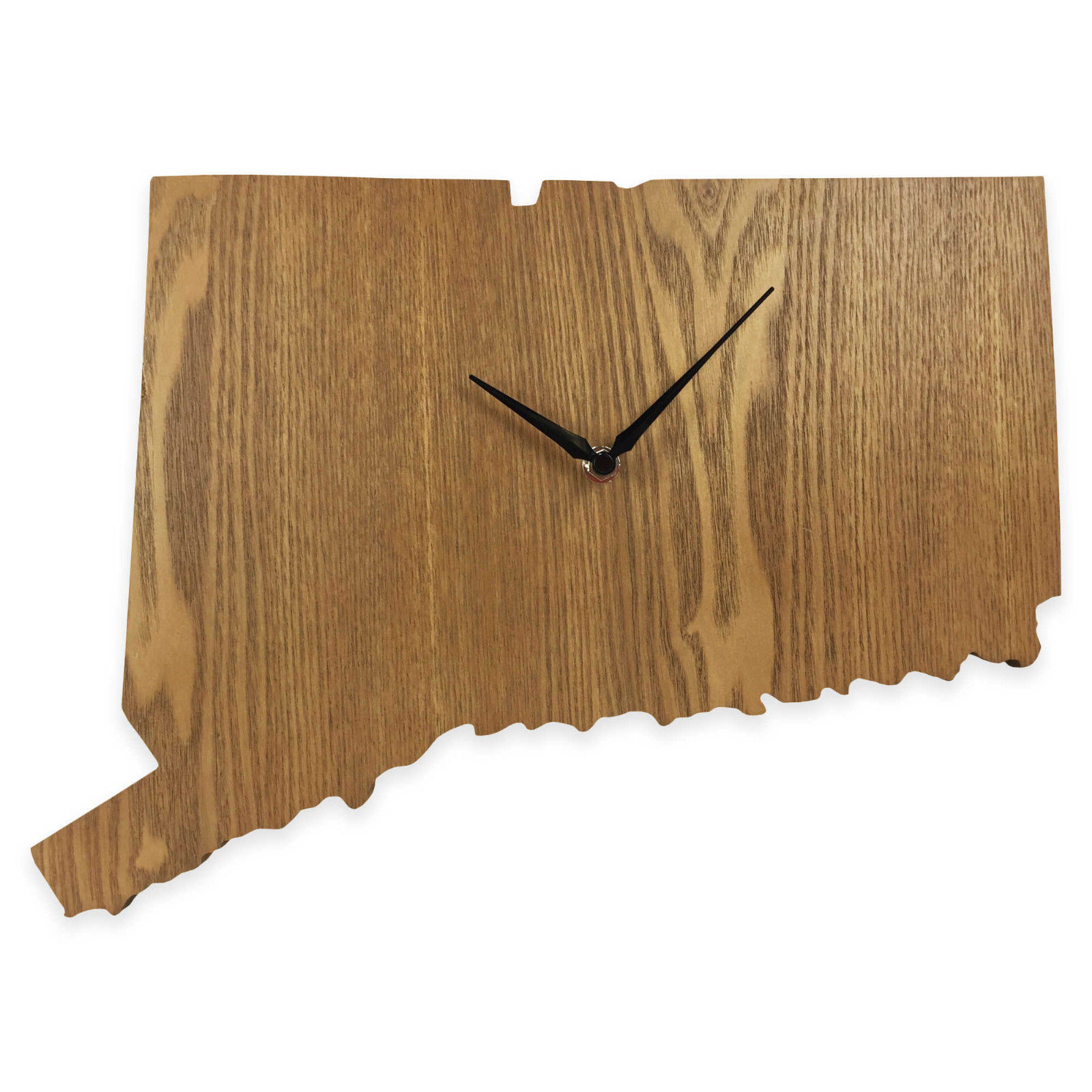 Connecticut State Shaped Wood Grain Wall Clock Collection