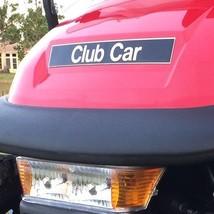 Club Car Name Plate Emblem Black Gold Precedent Models - $37.61