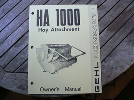 Gehl HA1000 Hay Attachment Owners Operators Manual Start Up Guide Setting - $50.00