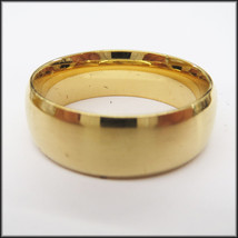 Stainless Steel Stamped Gold Diamond Cut Edge Ring 8mm,  - $14.99+
