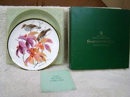 "Franklin Mint Ntl Audubon Society Songbirds of the World Plate ""The Wood... - $21.73"