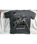 INDIAN BRAVE ON HORSE MOON END OF THE TRAIL NATIVE AMERICAN GRAY T-SHIRT - $11.65