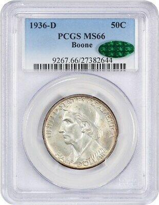 Primary image for 1936-D Boone 50c PCGS/CAC MS66 - Low Mintage Issue - Low Mintage Issue