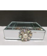 American Atelier Brooch Mirrored Soap Jewelry Tray Bathroom NEW - $29.99