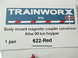 Trainworx Stock #622-Red Body Mount Magnetic Coupler See Description for Info. image 2