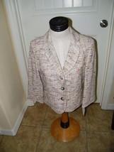 Anne Klein Ladies Spring Boucle Blazer Size 12 Petite NWT Pastel 13558 - $49.09