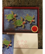 New Boxed Hawaiian Christmas Cards Island Heritage Turtles  - $12.00
