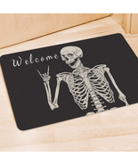 Funny Welcome Skeleton Door Mat,Holiday Decor Mat,Housewarming Doormat Gift - $29.65+