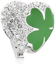 Swarovski 5002669 Silver Clover Heart Enamel Clip Charm - $39.50