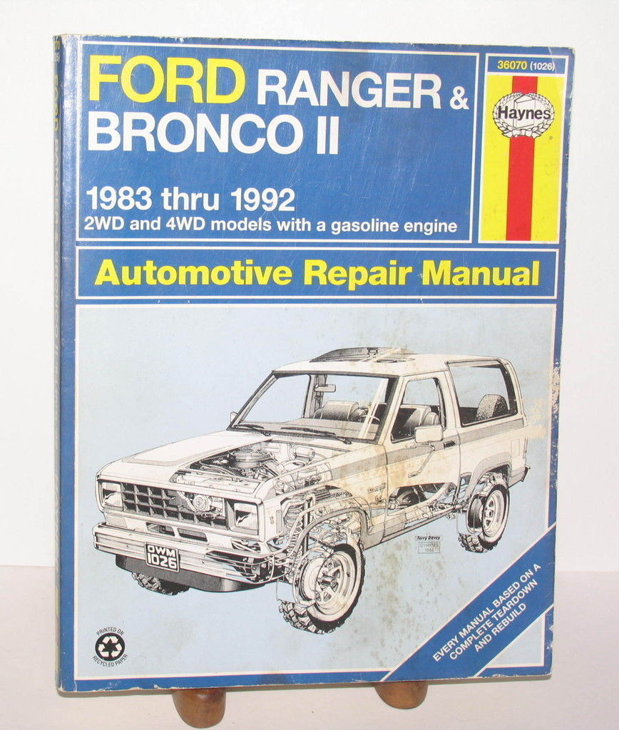 ford ranger bronco ii haynes repair manual and 50 similar items rh bonanza com 02 Ford Ranger Fuse Diagram Ford Ranger Fuse Box Diagram